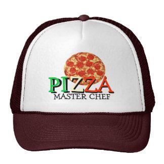 Maestro cocinero de la pizza gorras de camionero