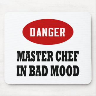 Maestro cocinero divertido alfombrilla de ratón