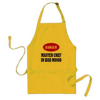 Maestro cocinero divertido delantal