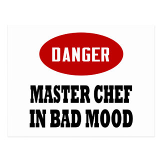 Maestro cocinero divertido postal