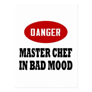 Maestro cocinero divertido postales
