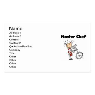Maestro cocinero - hembra plantilla de tarjeta de visita
