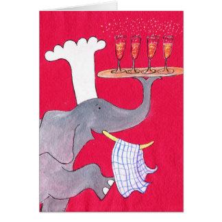 Maestro cocinero tarjeta de felicitación