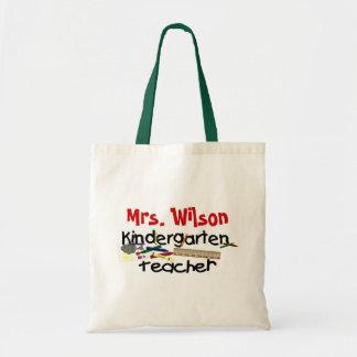 Maestro de jardín de infancia de encargo bolsa tela barata