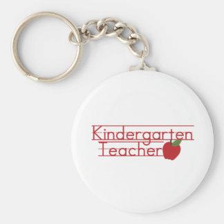 Maestro de jardín de infancia llavero personalizado