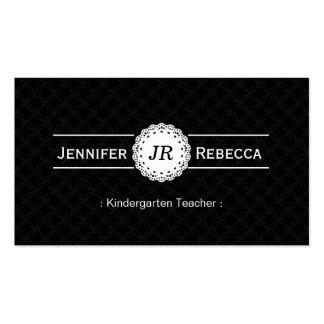 Maestro de jardín de infancia - negro moderno del  tarjetas de visita