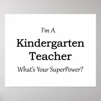 Maestro de jardín de infancia póster