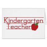 Maestro de jardín de infancia tarjetas