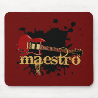 Maestro Grunge Electric Guitar Mouse Pad