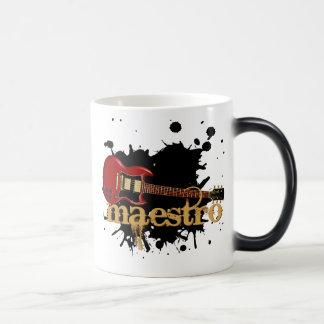 Maestro Grunge Electric Guitar 11 Oz Magic Heat Color-Changing Coffee Mug