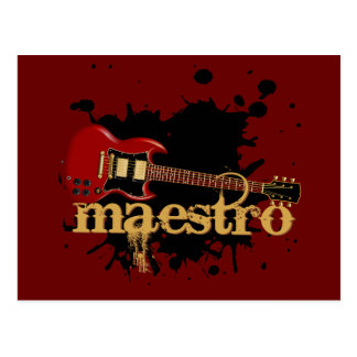 Maestro Grunge Electric Guitar Post Cards