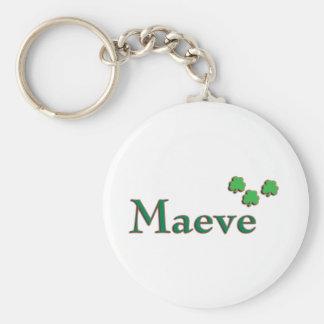 Maeve Irish Name Basic Round Button Keychain