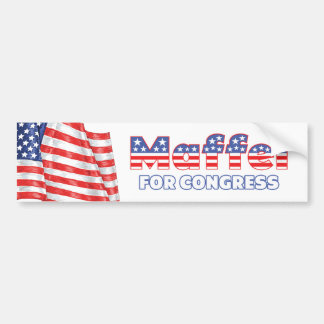Maffei for Congress Patriotic American Flag Car Bumper Sticker