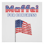 Maffei for Congress Patriotic American Flag Print