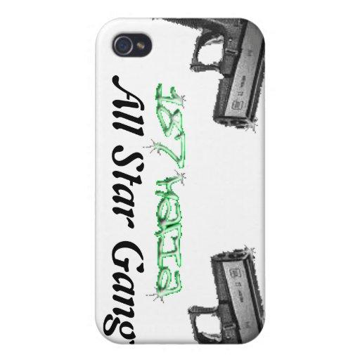 mafia 187 toda la caja del teléfono de la cuadrill iPhone 4/4S funda