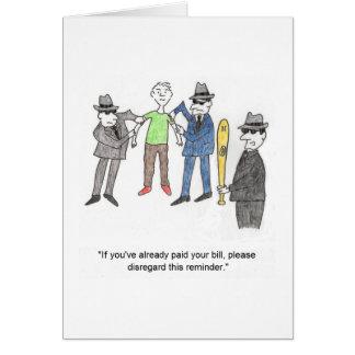 Mafia Cartoon Birthday Card