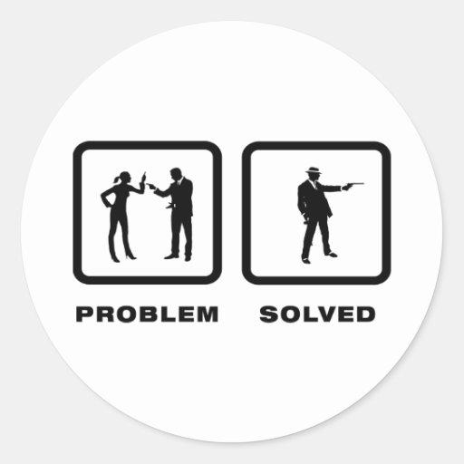 Mafia Classic Round Sticker