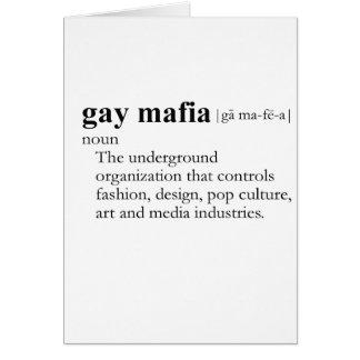MAFIA GAY (definición) Tarjetas