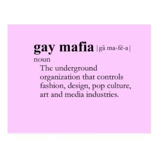 MAFIA GAY (definición) Postales