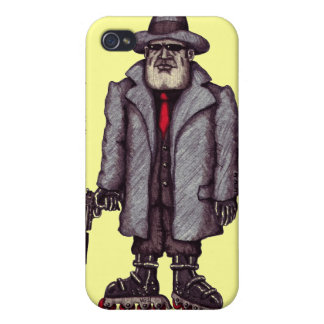 Mafia hitman on rollerblades graphic iphone case iPhone 4 case