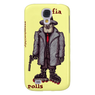 Mafia hitman on rollerblades graphic iphone case samsung galaxy s4 case
