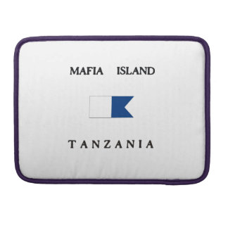 Mafia Island Tanzania Alpha Dive Flag MacBook Pro Sleeve