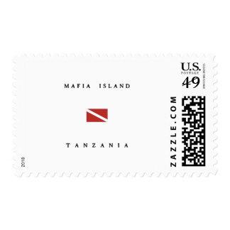Mafia Island Tanzania Scuba Dive Flag Postage Stamp