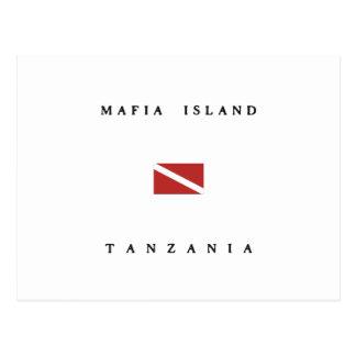 Mafia Island Tanzania Scuba Dive Flag Postcard