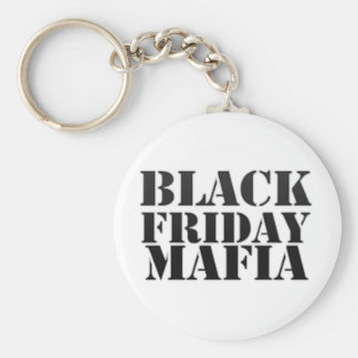 Mafia negra de viernes llavero redondo tipo pin