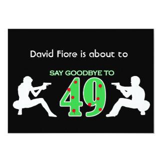 Mafia Style 50th Birthday Celebration 5x7 Paper Invitation Card