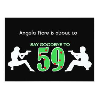 Mafia Style 60th Birthday Celebration 5x7 Paper Invitation Card