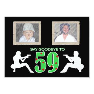 Mafia Style Photo 60th Birthday Celebration Card
