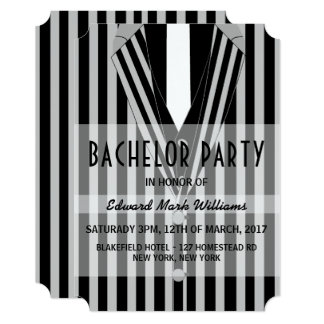 Mafia Suit Bachelor Party Card