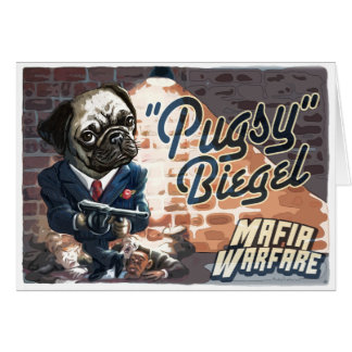 Mafioso Pugsy Beigel by Mudge Studios Cards