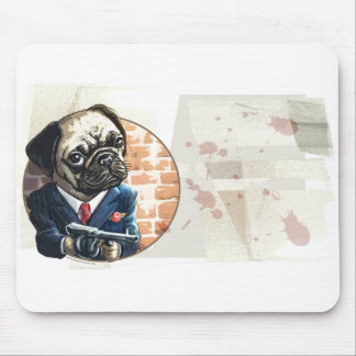 Mafioso Pugsy Beigel by Mudge Studios Mouse Pad