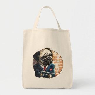 Mafioso Pugsy Beigel by Mudge Studios Tote Bags