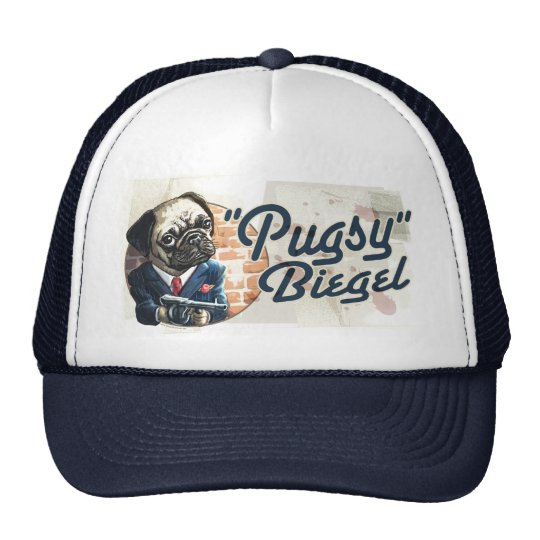 Mafioso Pugsy Beigel by Mudge Studios Trucker Hat