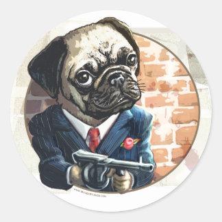 Mafioso Pugsy Beigel por los estudios de Mudge Etiqueta Redonda