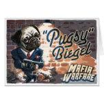 Mafioso Pugsy Beigel por los estudios de Mudge Tarjeta De Felicitación