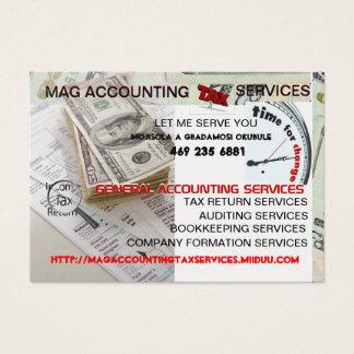 MAG ACCOUNTING  TAX SERVICES MOISOLA AGBADAMOSI BU BUSINESS CARD