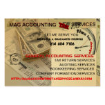 MAG ACCOUNTING  TAX SERVICES MOISOLA AGBADAMOSI LARGE BUSINESS CARDS (Pack OF 100)