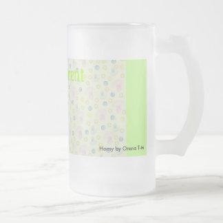 Mag orgulloso del padre un diseño delicado verde c tazas de café