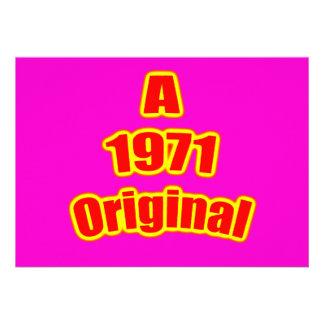 Mag original del rojo 1971 invitación