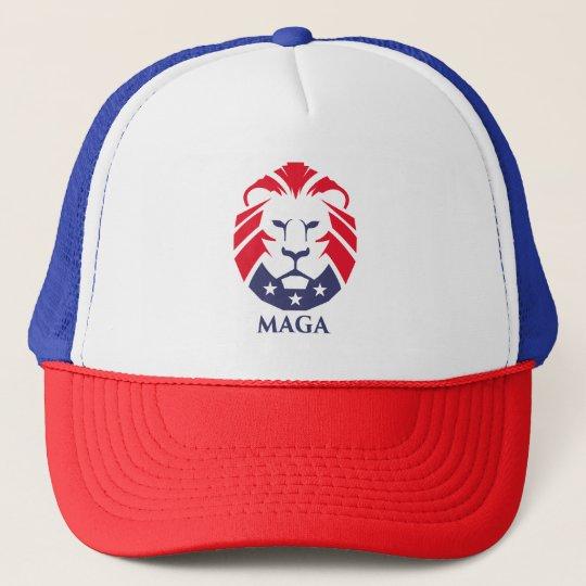 71eff0298 MAGA Lion Trucker Hat