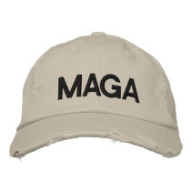 MAGA MAKE AMERICA GREAT AGAIN EMBROIDERED BASEBALL HAT