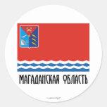 Magadan Oblast Flag Classic Round Sticker