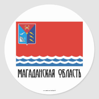 Magadan Oblast Flag Round Stickers