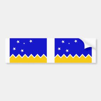 Magallanes, bandera de Chile, la Antártida Etiqueta De Parachoque