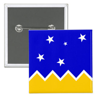 Magallanes, bandera de Chile, la Antártida Pin Cuadrado