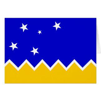 Magallanes, bandera de Chile, la Antártida Tarjetón